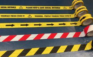 Floor Tape - Self Adhesive Floor Marking Tape for Social Distancing