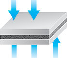 compressible foam sealing tape Norseal Fs1000